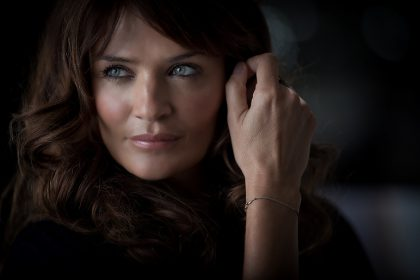 Model, Helena Christensen; London 2011.