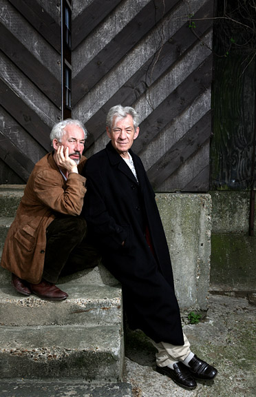 Simon Callow and Sir Ian McKellen, Actors.