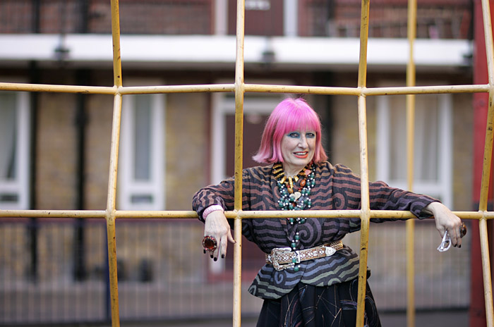 Zandra Rhodes, Fashion Designer.