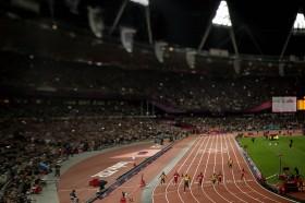 Usain Bolt wins the 100m Final